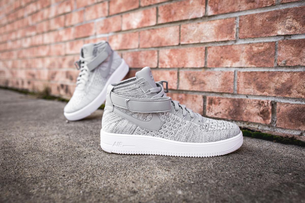 Nike Air Force 1 Ultra Flyknit Low Men Cool GreyWhite