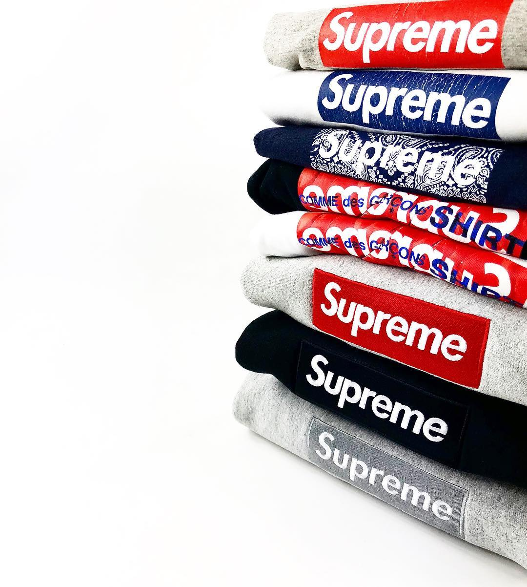 Supreme New York Bogo Box Logo Hoodies
