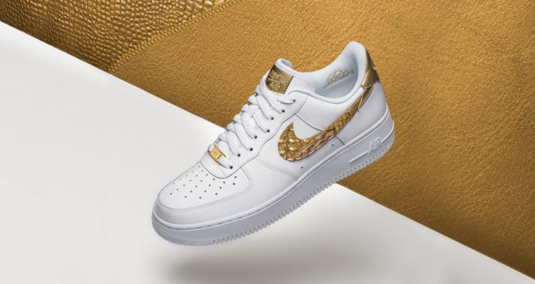 Nike Air Force 1 sko Cristiano Ronaldo Golden Patch