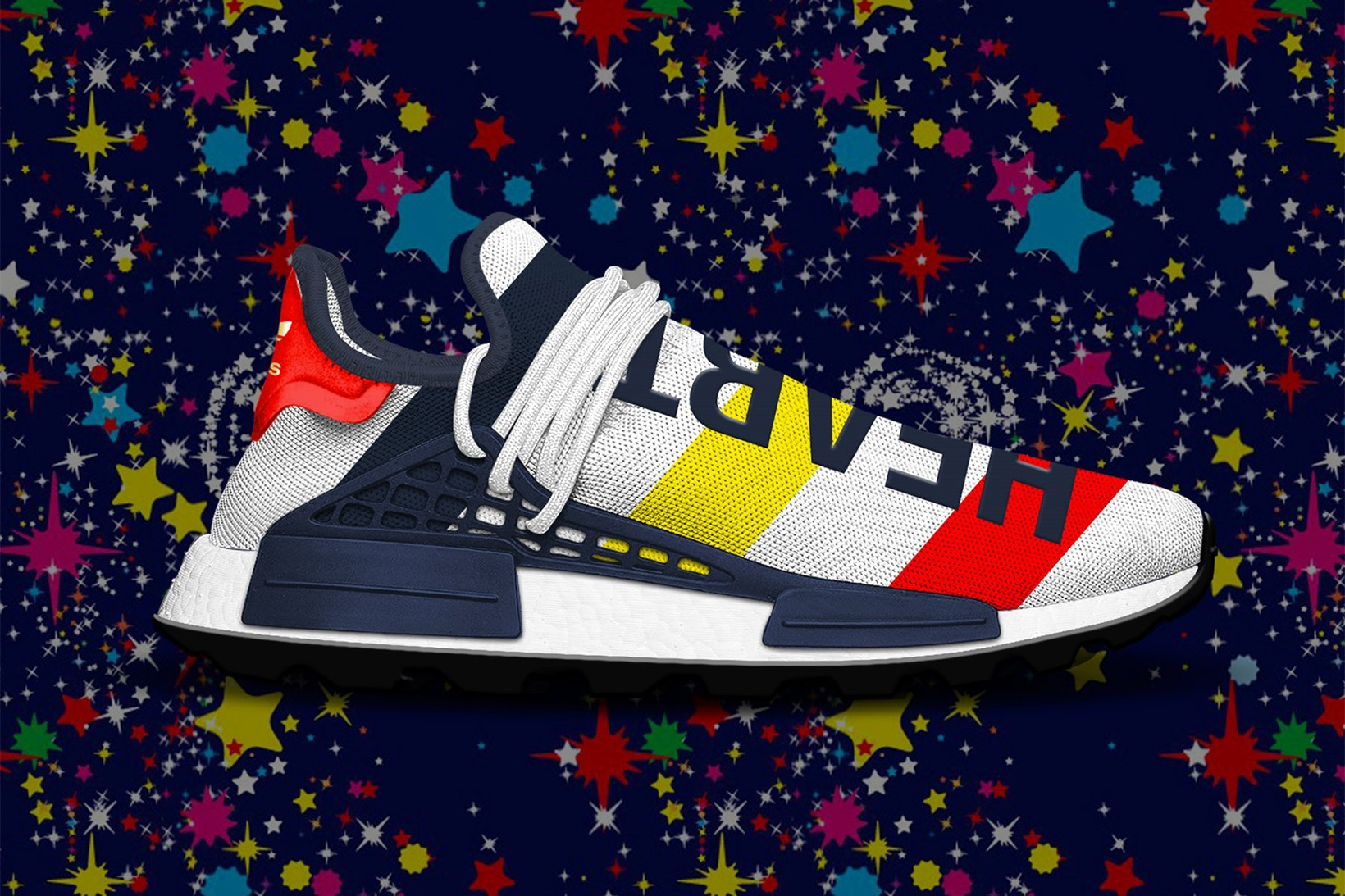 ADIDAS PHARRELL WILLIAMS NMD HU BBC Human Race Heart Mind
