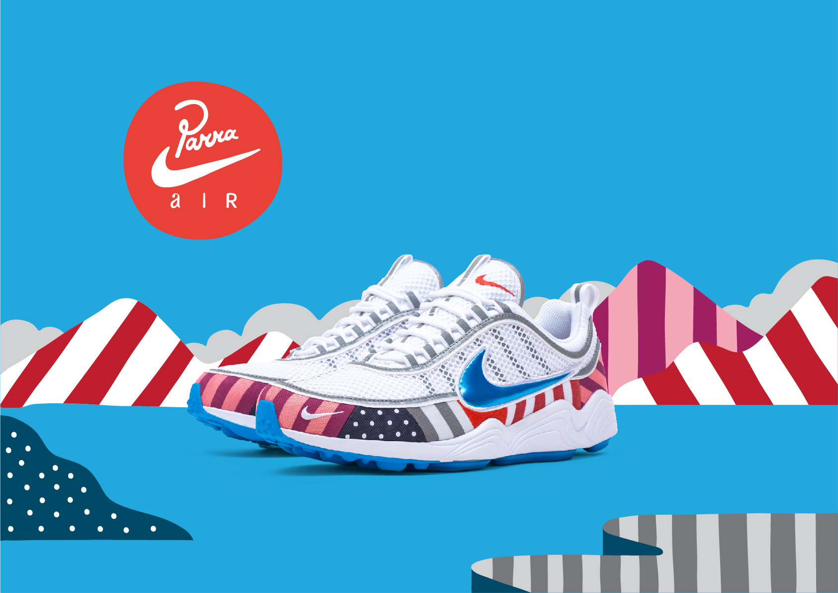 check out 6173e 438cd Parra släpper egna versioner av Nike Air Max 1   Zoom Spiridon   Dopest