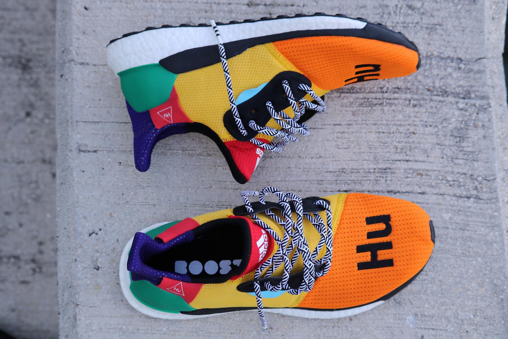 Pharrell Williams x Glide ST Hu Vit adidas Skor Solar adidas