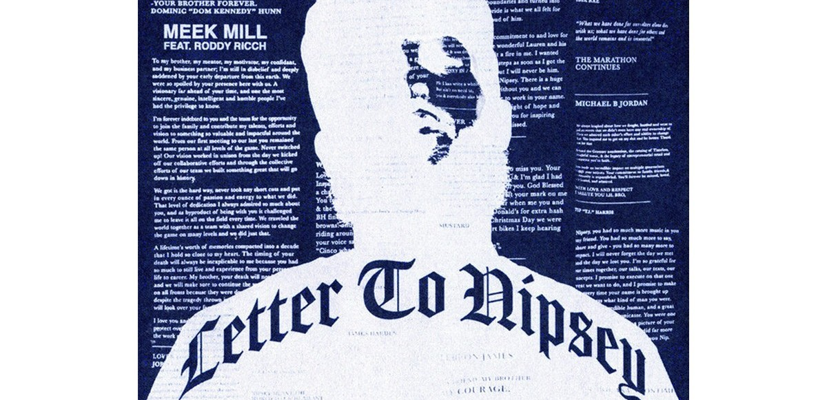 "Meek Mill & Roddy Ricch hedrar Nipsey Hussle med singeln ""Letter to Nipsey"""