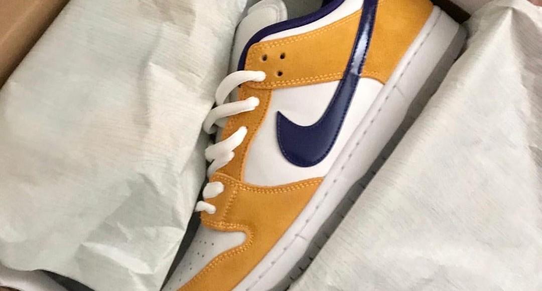 """Se första bilderna på Nike SB Dunk Low """"Laser Orange"""""""