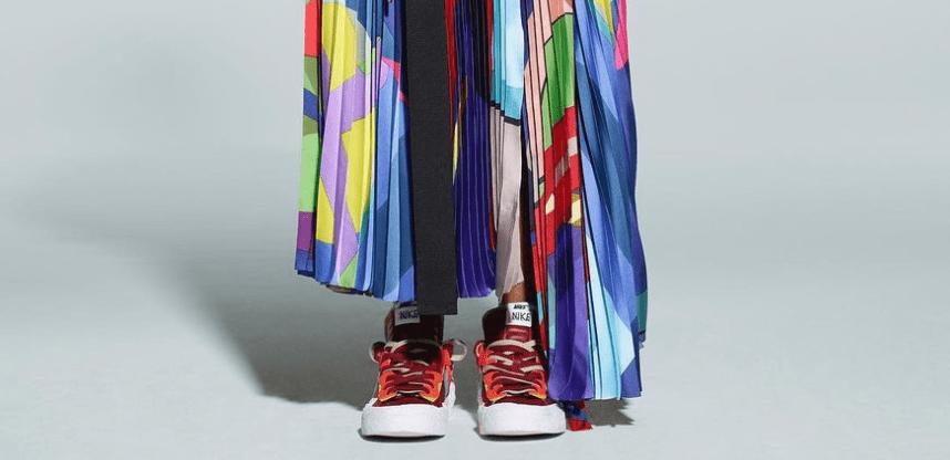 Ta en titt på Nike x sacai x KAWS Blazer Low