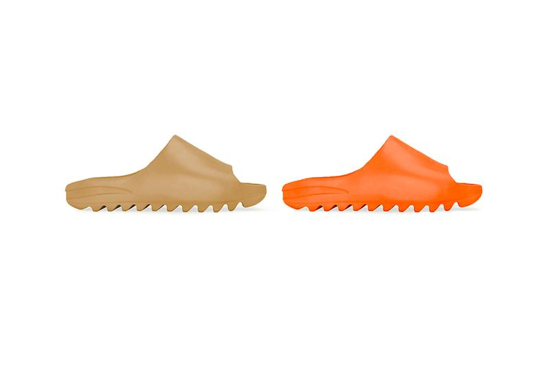 "adidas YEEZY SLIDE kommer i färgerna ""Core"" och ""Orange"""